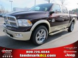 2012 Deep Molten Red Pearl Dodge Ram 1500 Laramie Longhorn Crew Cab 4x4 #57969522