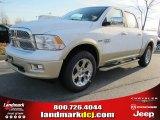 2012 Bright White Dodge Ram 1500 Laramie Longhorn Crew Cab #57969520