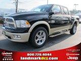 2012 Black Dodge Ram 1500 Laramie Longhorn Crew Cab 4x4 #57969519