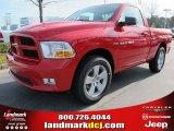 2012 Flame Red Dodge Ram 1500 Express Regular Cab #57969513