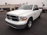 2011 Bright White Dodge Ram 1500 SLT Quad Cab 4x4 #57875170