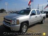 2011 Sheer Silver Metallic Chevrolet Silverado 1500 LT Crew Cab #57872960