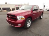 2012 Deep Cherry Red Crystal Pearl Dodge Ram 1500 Express Quad Cab #57875160