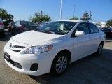 2011 Super White Toyota Corolla LE #57874508