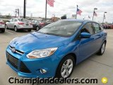 2012 Blue Candy Metallic Ford Focus SE Sport Sedan #57872834