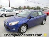 2012 Sonic Blue Metallic Ford Focus SE Sedan #57872833