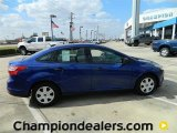 2012 Sonic Blue Metallic Ford Focus S Sedan #57872829