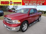 2010 Inferno Red Crystal Pearl Dodge Ram 1500 Big Horn Crew Cab #58090496