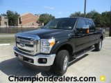 2012 Black Ford F250 Super Duty Lariat Crew Cab 4x4 #57872751