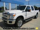 2012 Oxford White Ford F250 Super Duty Lariat Crew Cab 4x4 #57872749