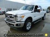 2012 Oxford White Ford F250 Super Duty Lariat Crew Cab 4x4 #57872746
