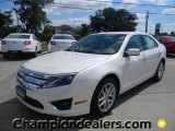 2011 White Platinum Tri-Coat Ford Fusion SEL V6 #57872691