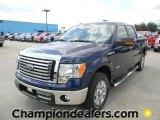 2011 Dark Blue Pearl Metallic Ford F150 XLT SuperCrew #57872642