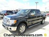 2011 Ebony Black Ford F150 Lariat SuperCrew 4x4 #57872601