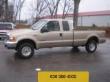 2000 Harvest Gold Metallic Ford F250 Super Duty XLT Extended Cab 4x4 #57876323