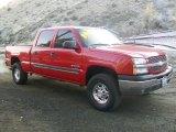 2003 Victory Red Chevrolet Silverado 1500 LS Crew Cab 4x4 #57876315