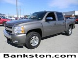 2008 Graystone Metallic Chevrolet Silverado 1500 LT Crew Cab #57872475