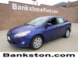 2012 Sonic Blue Metallic Ford Focus SE Sedan #57872369