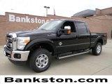 2012 Black Ford F250 Super Duty Lariat Crew Cab 4x4 #57872319