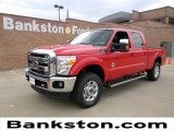 2012 Vermillion Red Ford F250 Super Duty Lariat Crew Cab 4x4 #57872317