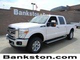 2012 White Platinum Metallic Tri-Coat Ford F250 Super Duty Lariat Crew Cab 4x4 #57872313