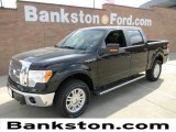 2011 Ebony Black Ford F150 Lariat SuperCrew 4x4 #57872276