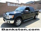 2011 Ebony Black Ford F150 Lariat SuperCrew 4x4 #57872267