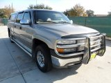 2001 Light Pewter Metallic Chevrolet Silverado 1500 LS Crew Cab #58090275