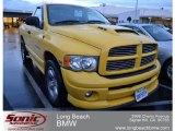 2005 Solar Yellow Dodge Ram 1500 SLT Rumble Bee Regular Cab #57875072