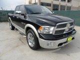 2009 Brilliant Black Crystal Pearl Dodge Ram 1500 Laramie Quad Cab #57875048