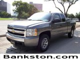 2008 Graystone Metallic Chevrolet Silverado 1500 LT Extended Cab #57872132