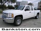 2012 Summit White Chevrolet Silverado 1500 LS Extended Cab 4x4 #57872103