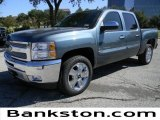 2012 Blue Granite Metallic Chevrolet Silverado 1500 LT Crew Cab #57872085