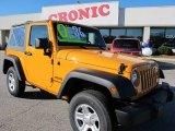 2012 Dozer Yellow Jeep Wrangler Sport 4x4 #57875020