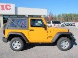 2012 Jeep Wrangler Sport 4x4 Dozer Yellow