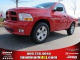 2012 Flame Red Dodge Ram 1500 Express Regular Cab #58090187