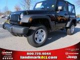 2012 Black Jeep Wrangler Sport 4x4 #58090173