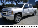 2011 Sheer Silver Metallic Chevrolet Silverado 1500 LT Crew Cab #57871995