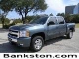 2011 Blue Granite Metallic Chevrolet Silverado 1500 LT Crew Cab #57871990