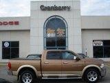2011 Saddle Brown Pearl Dodge Ram 1500 Laramie Crew Cab 4x4 #57874937
