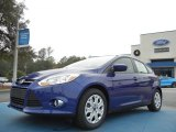2012 Sonic Blue Metallic Ford Focus SE 5-Door #57874922