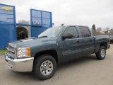 2012 Blue Granite Metallic Chevrolet Silverado 1500 LS Crew Cab 4x4 #58238672