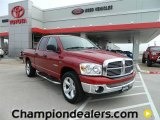 2008 Inferno Red Crystal Pearl Dodge Ram 1500 Big Horn Edition Quad Cab #58238647