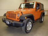 2012 Dozer Yellow Jeep Wrangler Sport S 4x4 #58239275