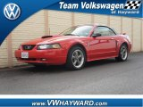 2002 Torch Red Ford Mustang GT Convertible #58239238
