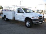 2007 Bright White Dodge Ram 3500 ST Regular Cab Chassis #58238503