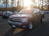 2009 Deep Ruby Red Metallic Chevrolet Silverado 1500 LT Z71 Crew Cab 4x4 #58239165