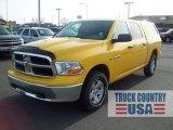 2009 Detonator Yellow Dodge Ram 1500 SLT Crew Cab 4x4 #58239090