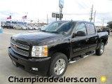 2012 Black Chevrolet Silverado 1500 LTZ Crew Cab 4x4 #58238318