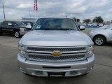 2012 Silver Ice Metallic Chevrolet Silverado 1500 LT Crew Cab 4x4 #58238316